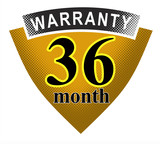 36 month warranty shield poster