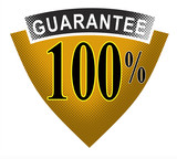 100% Guarantee warranty shield poster