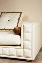 leather white sofa