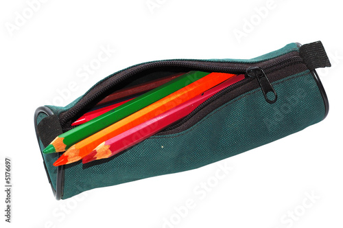 Pencil-case with pencils.