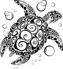 Turtle a silhouette