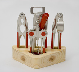 A set of kitchen tools