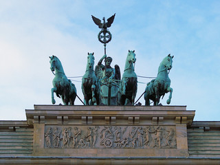 Quadriga of the Brandenburg Gate in Berlin
