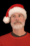 Pleasant man in Santa Hat poster