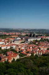 Saint Vitus's Cathedral, Prague Castle and old town view