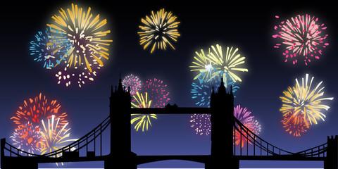 Fireworks - London - Tower Bridge