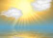 Very bright sun