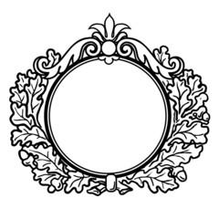 Victorian Style Round Frame