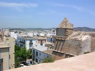 Ibiza Altstadt Turm Stadtmauer