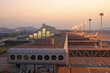 airport in the dusk
