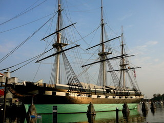 Landmark USS Constellation in Baltimore, Maryland Harbor