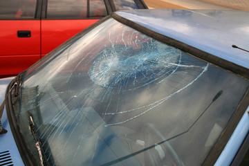 destroyed window-pane