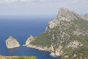 mountain view of mediterranean sea