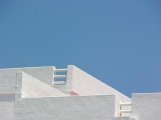 Weisse Hausdächer Ibiza