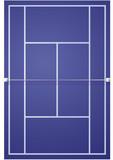 Terrain de tennis sur synthétique poster