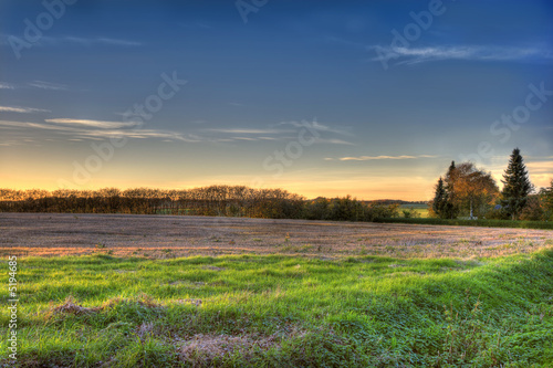 poster of Sunset in August - the countryside