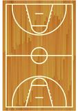 Terrain de basket sur parquet poster