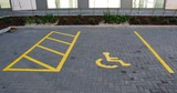 Disabled parking space poster