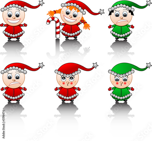 Little Santa's helpers smile set