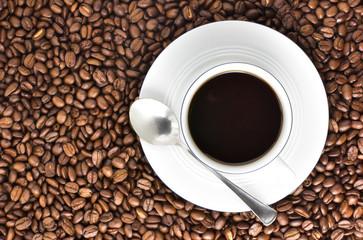 kaffeetasse von oben