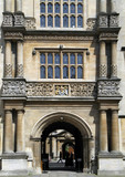 entrance to Bodleian library, Oxford University poster