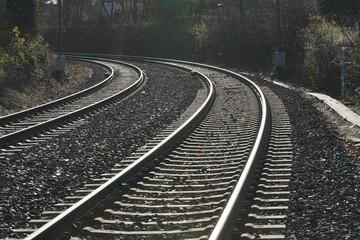 Eisenbahnschienen Kurve
