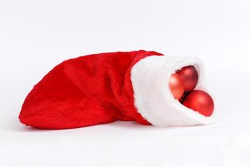 Santa stocking isolated on white background