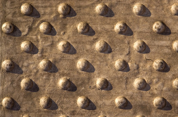Stone background with sphere pattern