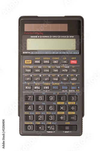Engineering calculator isolated