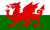 wales fahne flag poster
