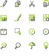 green-gray publish icons
