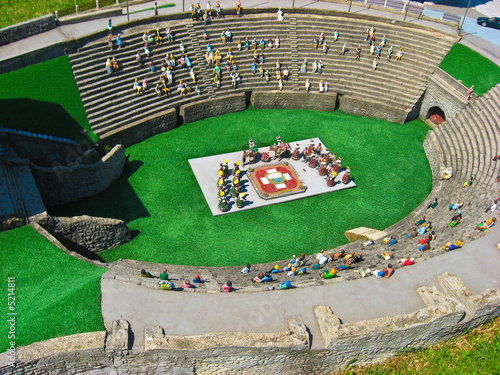 Miniatur Swiss, famous buildings in Switzerland