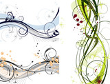 Fototapety Abstract decoration wave set