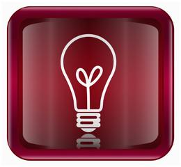 Light Bulb Icon, isolated on white background.