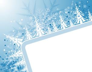 Christmas frame with Christmas tree, vector illustration