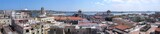 Panoramic view of old Havana buildings