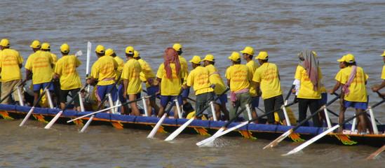 Festival annuel de bateaux a rame, Phnom Penh
