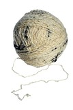 A white ball of yarn that is isolated on a white background. poster