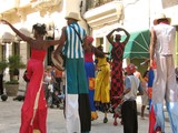 A view of carnival parade in the streets of Havana poster