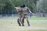 Military training knife combat