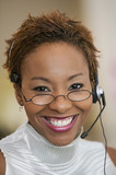 Customer Service Representative With Headset, portrait