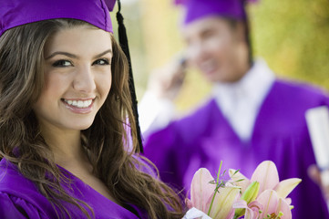 Smiling Young Woman at Graduation