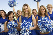 Group of Cheerleaders, portrait