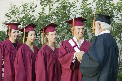 Graduates in line for degree outside