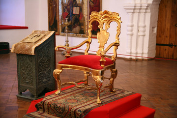 Throne. Palace of metropolitan, his working office