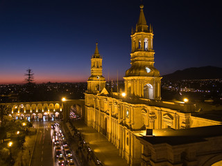 Nocturnal Plaza De Armas and Cathedral – Arequipa