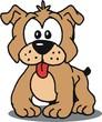 Cachorro Mascote Bulldog