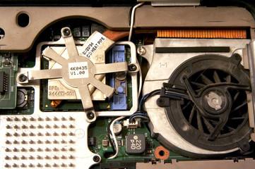 Inside of laptop