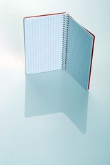Red isolated Notepad