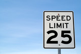 25 mph Sign poster